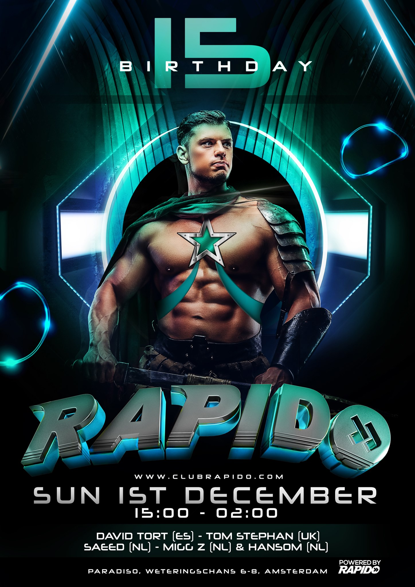 Rapido – the 15th Birthday - Gay Dance Circuit House Party
