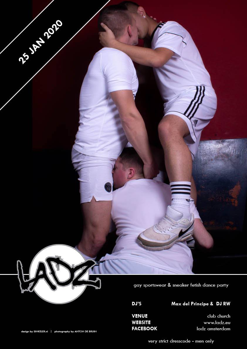 LADZ January 2020 - Sportswear and Sneakers Gay Fetish Party - Club Church Amsterdam - Men Only